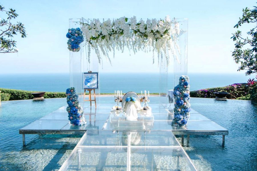 The Ceremony at Stone House | Water Wedding